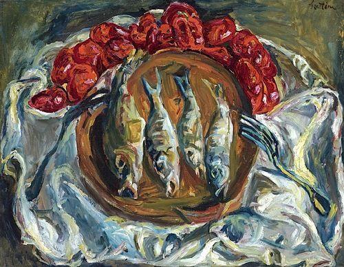 chaim soutine Fish and Tomatoes