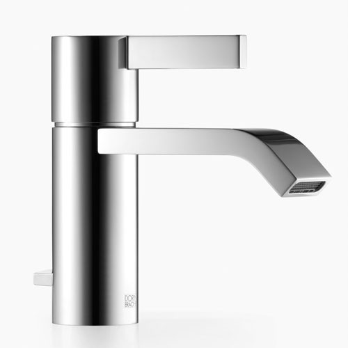 Dornbracht imo 33 500 670 00 0010 single lever lavatory mixer with drain and overflow polished for Polished chrome bathroom countertop accessories