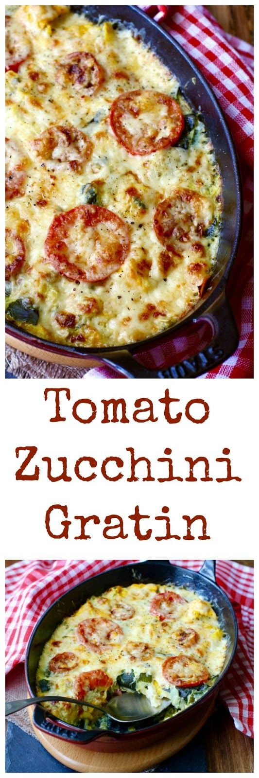 This Zucchini Tomato Gratin is one of my favorite summer dishes. It is really easy to make, and is a great way to use up all of your summer squash bounty.