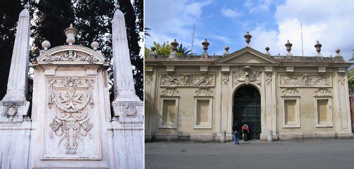 Площадь Кавальери-ди-Мальта. В воротах находится та самая скважина, через которую виден собор Святого Петра.