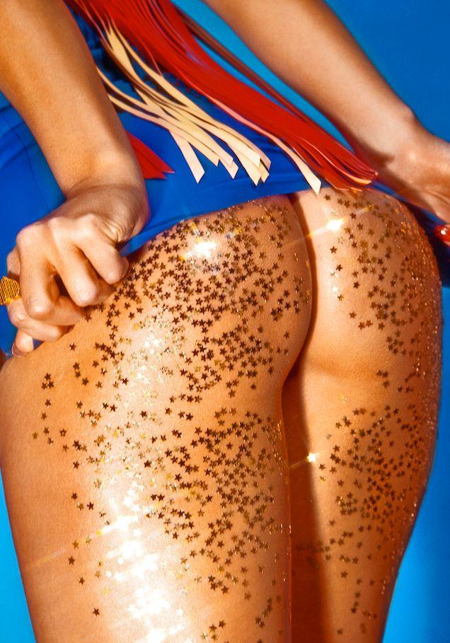 Bikini bottoms and fringed cowgirl dress in Vice Magazine.