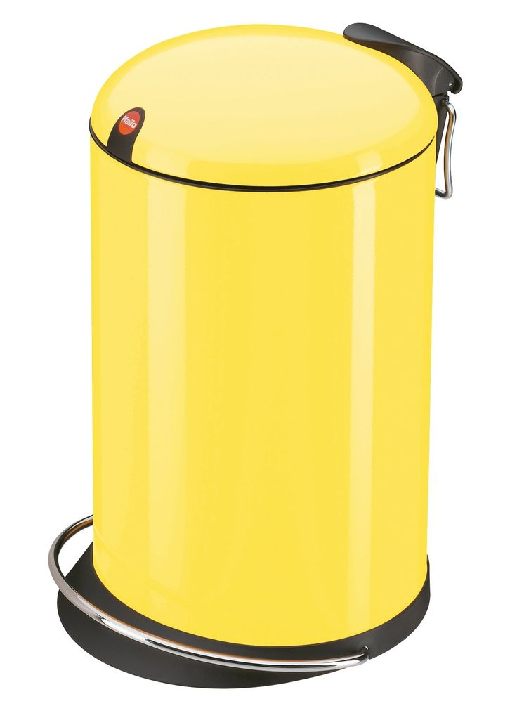 Hailo 0516-639 Design Tret-Abfallsammler TOPdesign 16, gelb: Amazon.de: Küche & Haushalt