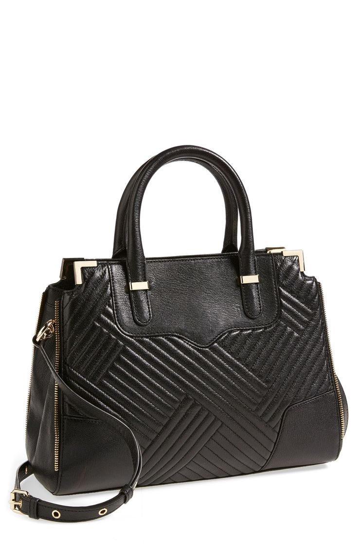 So chic! Want this Rebecca Minkoff quilted satchel.