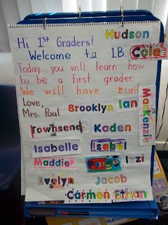 Isn't the first week always the longest? It's so fun to meet my adorable batch of new firsties, but oh. my. goodness. It is a long week!...