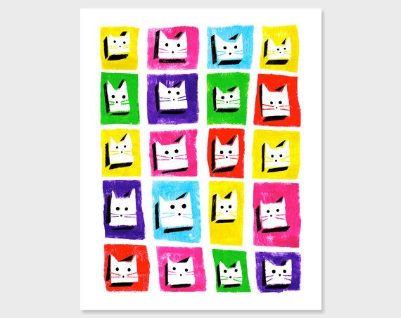 Cats Printable - 8x10 Print - Instant Download