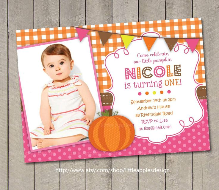 Pumpkin Invite / Pumpkin Invitation / by LittleApplesDesign, $12.00