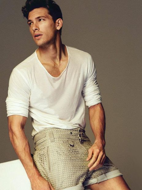 GQ Spain /  Adam Senn By Mat­teo Mon­ta­nari (I don't know about those shorts but I like your face.)