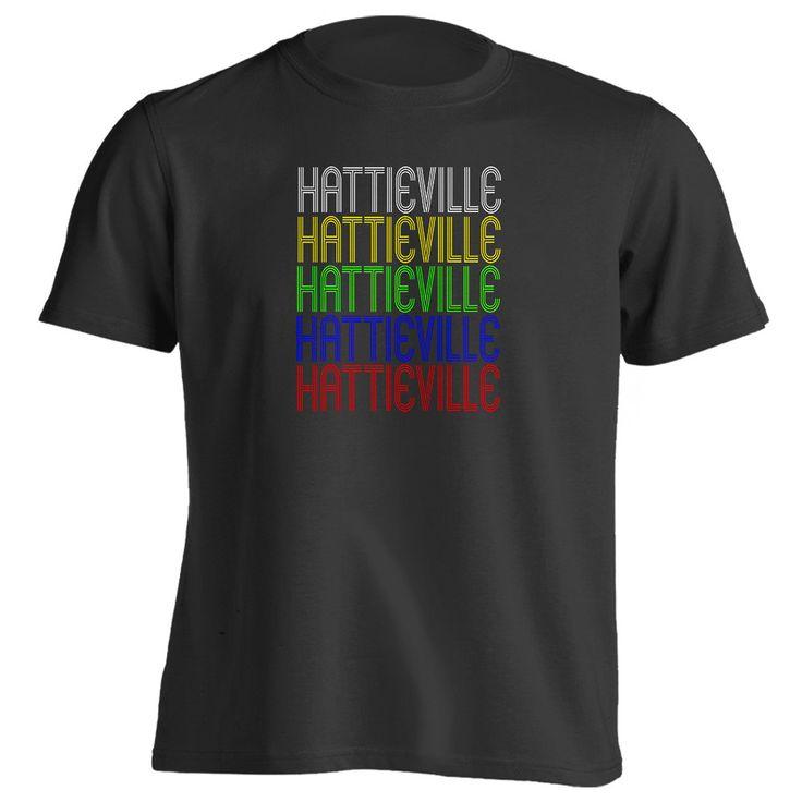 Retro Hometown - Hattieville, AR 72063 - Black - Small - Vintage - Unisex - T-Shirt