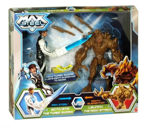 Max steel vs earth elementor toy figure playset
