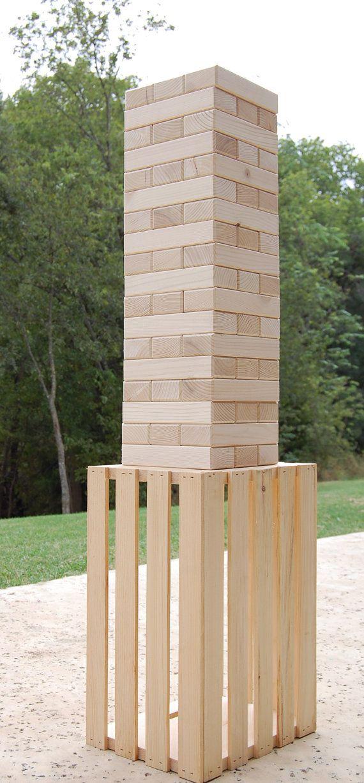 54 2x3 Giant Jenga w/ CRATE Tumbling Wood Block by twosorethumbs