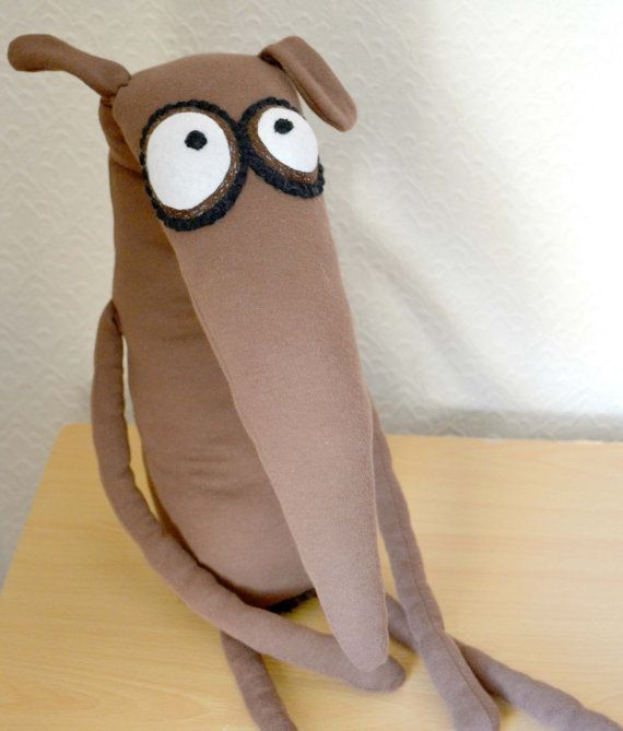 Rupert+the+Greyhound+handmade+plush+toy+by+sausagedog+on+Etsy,+£45.00