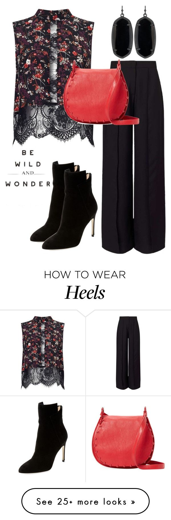 """Be Wild & Wonder"" by naviaux on Polyvore featuring Miss Selfridge, Cynthia Rowley, Sergio Rossi and Kendra Scott"