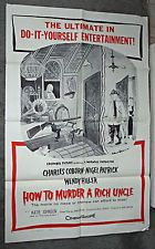 HOW TO MURDER A RICH UNCLE movie poster CHARLES ADDAMS art original 1958 1sheet