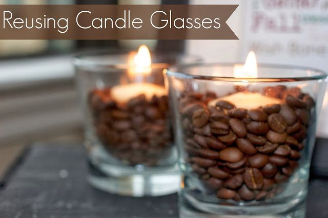 How to remove the old wax from all of your pretty candle jars so you can re use them!