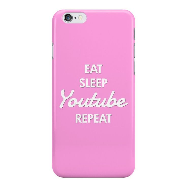 Eat. Sleep. YouTube. Repeat. Cute phone case for teens, only £5.99 www.funcases.co.uk