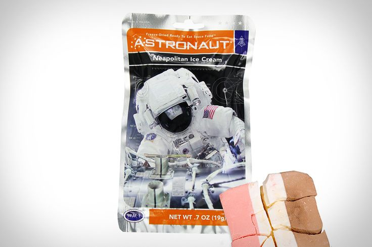 Even though it was only served on the Apollo missions, we just can't get enough of Astronaut Ice Cream. It's a 15-pack of Neapolitan freeze dried ice cream that is frozen to -40 degrees and vacuum dried in a foil...