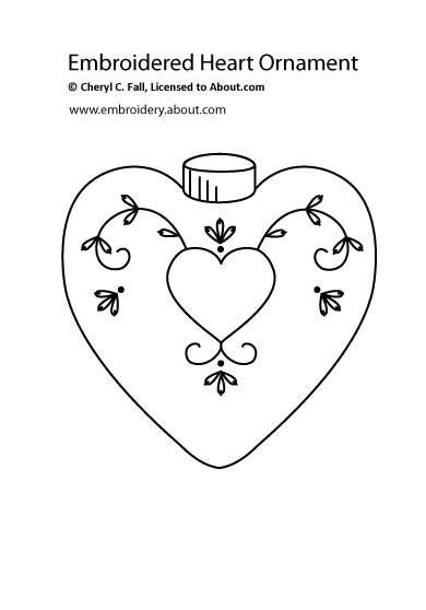 Christmas Ornament Embroidery Pattern Set 2 - Free Embroidered Christmas Ornament Pattern