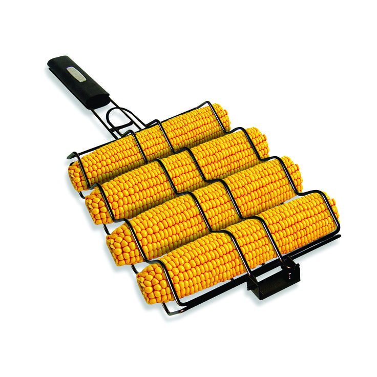 This Non-Stick Corn Basket with a heat resistant handle allows you to turn all four ears of corn in one simple motion, helping to make tasty corn on the cob. #bbq #barbecueSimply Grilled, Grilled Nonstick, Nonstick Corn, Grilled Non Sticks, Corn Baskets, Grilled Baskets, Non Sticks Corn, Grilling Corn, Grilled Corn