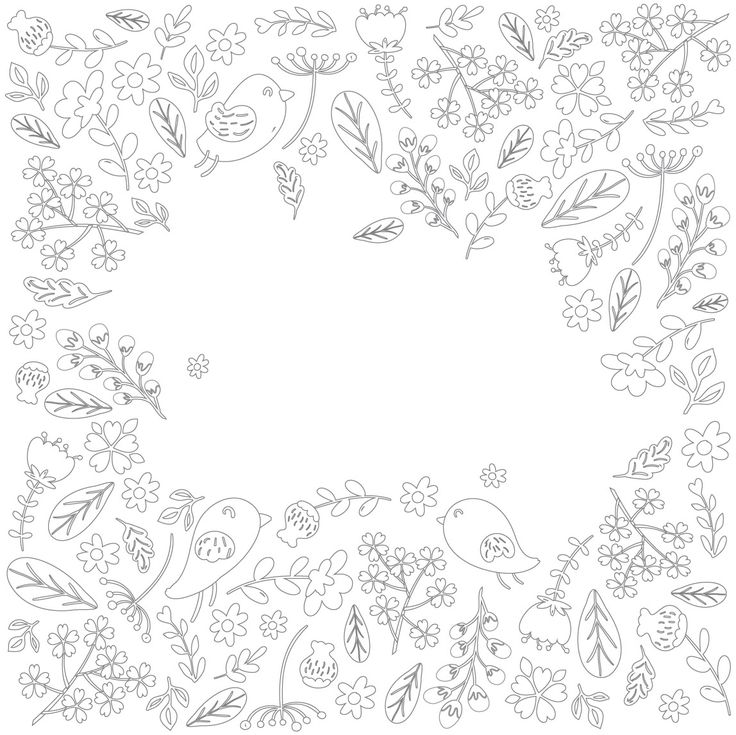 Free Lettering Coloring Page Emily Spadoni Spring Birds Flowers Your Design Peony Blooms