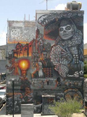 by Fosil Muralista Mural in Celaya, Guanajuato (Mexico)