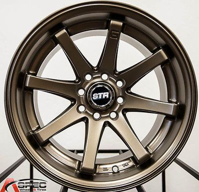 15x8 STR522 Matte Bronze Wheels 4x100 114 3 15 Rim Fits Honda Civic Accord | eBay
