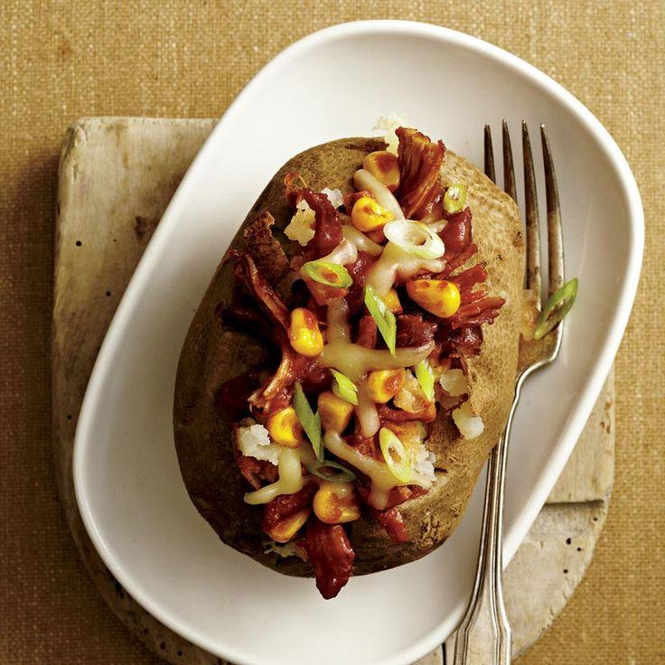 Pommes de terre farcies au porc effiloché