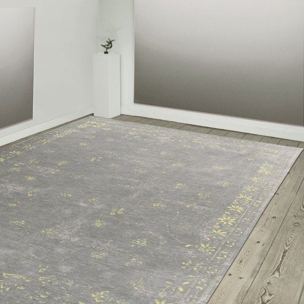 Louis De Poortere Rugs Vintage Fedra 8247 Grey Flannel Online From The Rug Er Uk