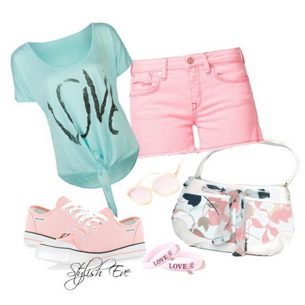 Spring-summer-2013-outfits-with-shorts-for-women-by-stylish-eve_21 Polyvore Clothes Outift for • teens • movies • girls • women •. summer • fall • spring • winter • outfit ideas • dates • parties Polyvore :) Catalina Christiano