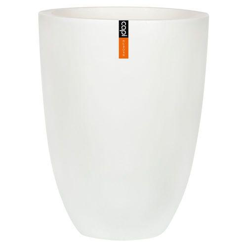Capi Europe Lux Outdoor Vase Elegant Low White 36x47cm
