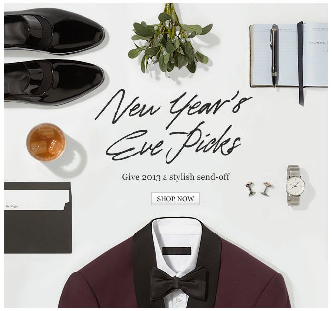 NYE Picks, product surrounds text