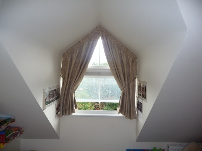 Curtains For Triangle Windows Nifty Ideas Pinterest