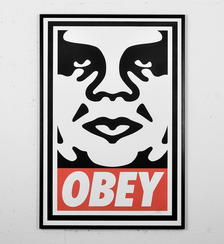 Entitled offset poster this print by shepard fairey obey is an open edition made in it is signed by the artist format 24 x inches x 91 cm