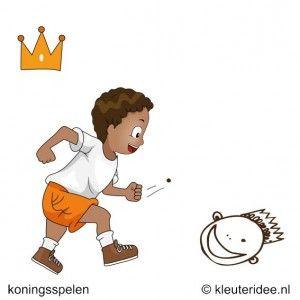 Een oogje op de koning, koningsspelen voor kleuters, kleuteridee.nl ,15 .