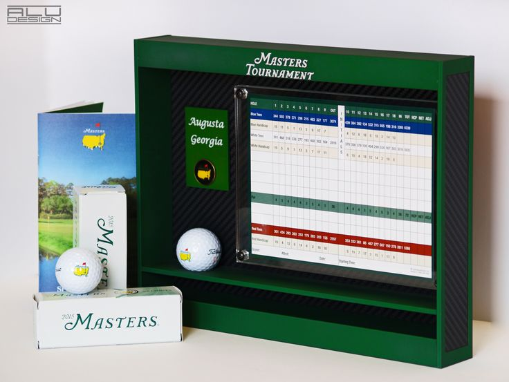 MASTERS GOLF FRAME DISPLAY CNC MACHINED ALUMINUM ANODIZED GREEN INSERT SCORE CARD OR PICTURE COMMEMORATE YOUR MASTERS VISIT MADE IN USA MODERN GOLF