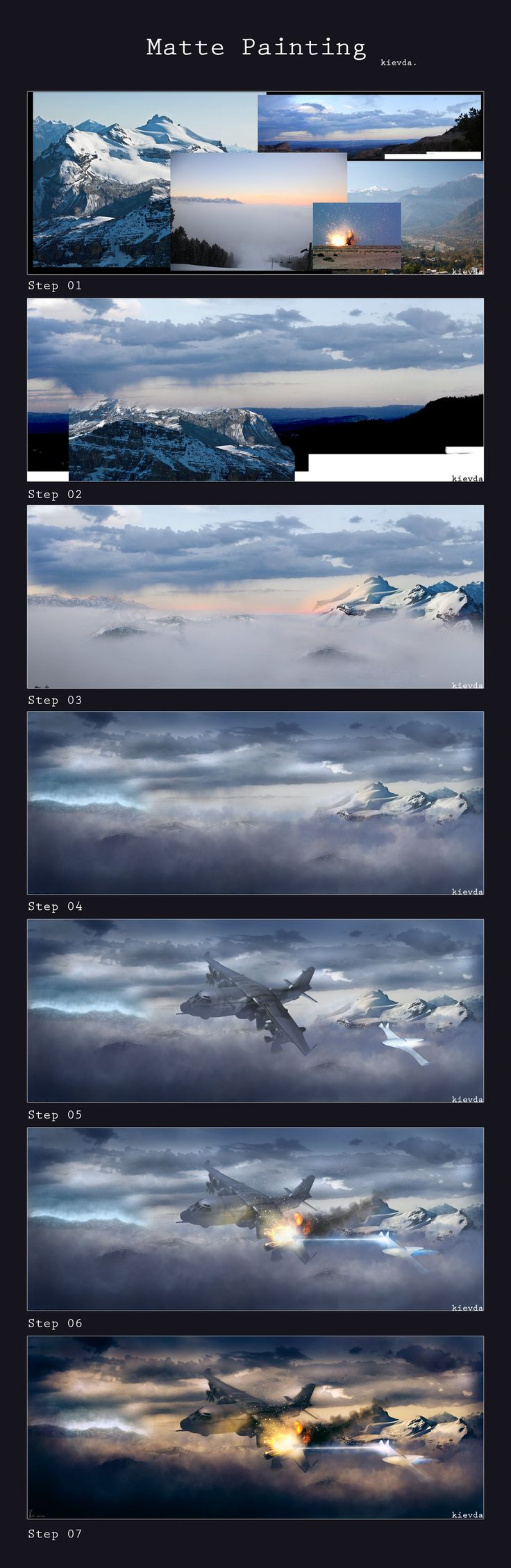 Matte Painting Walkingthrough by kievda.deviantart.com on @deviantART