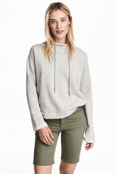 Keprové šortky - Zelená khaki - ŽENY   H&M CZ 1