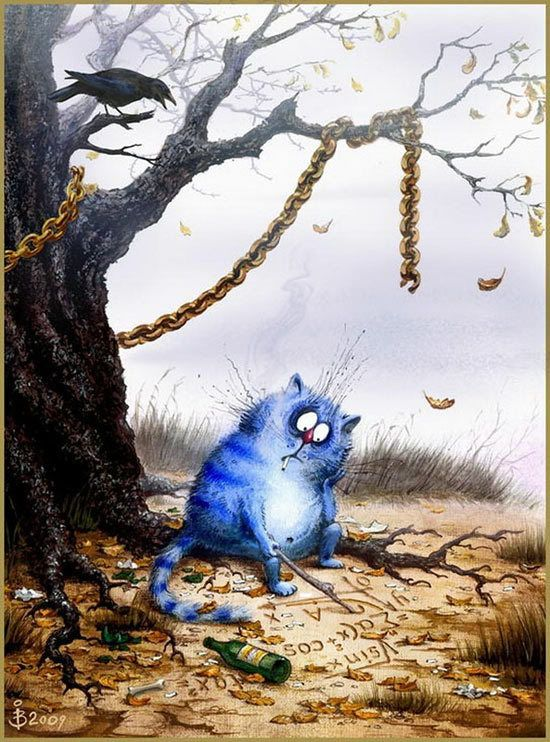 Blue cats artist Irina Zenyukov (Rina H.)