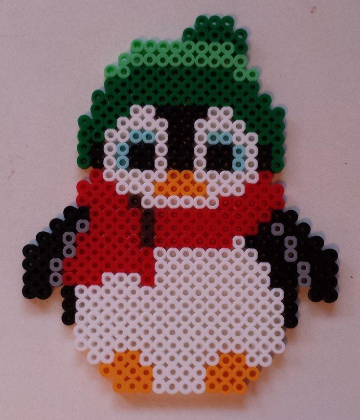 Week 29, Day 197, Penguin.  365 Day Perler Bead Challenge.