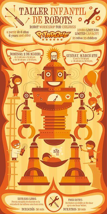 Robot Workshop For Children Poster For Pitarque Robots 2014 Www
