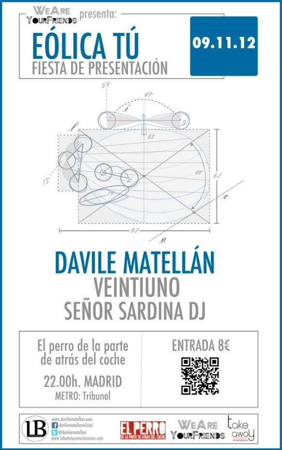 Cartelería #eólicatour de Davile Matellán para la presentación en Madrid
