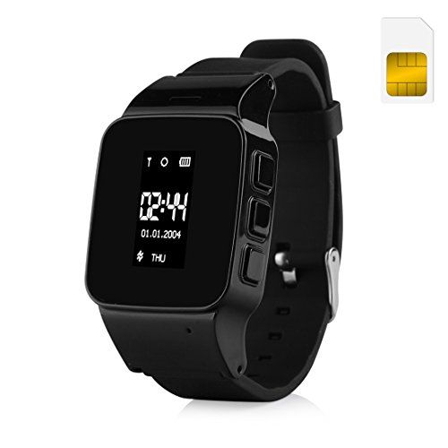 Wonlex GPS Watch for Elder the elderly with US Sim Card (Black) *** Check this awesome product by going to the link at the image.
