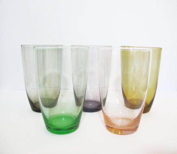Retro Coloured Drinking Glasses https://www.etsy.com/au/shop/HelloBambiVintage