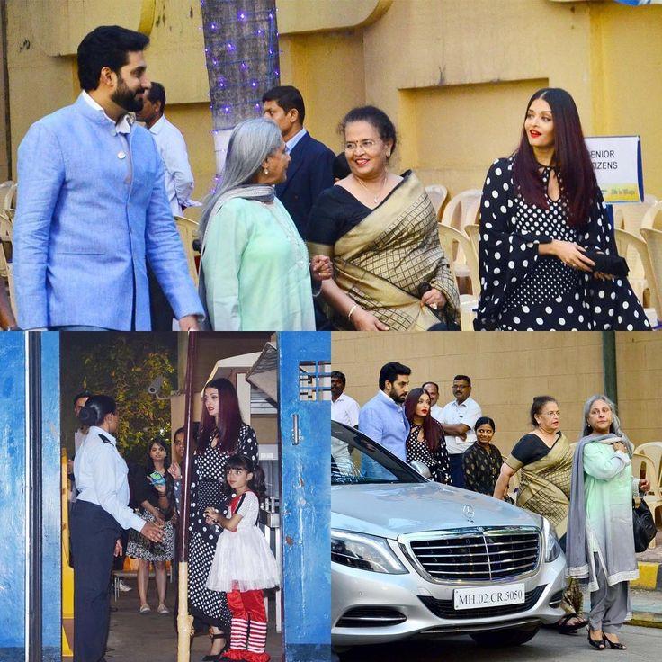 Abhishek Bachchan attended to his Daughter Annual Day with Whole Family. #abhishekbachchan #amitabhbachchan #aishwarayarai