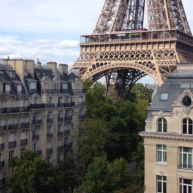 The 14 Most Beautiful Travel Instagrams of 2014 - Condé Nast TravelerThe breathtaking daytime view from the balcony at Hotel Pullman Paris Tour Eiffel