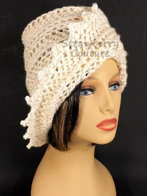 Ivory Crochet Hat Womens Hat Crochet Beanie Hat Ivory Sparkle Hat African Hat Winter Hat LAUREN Beanie Hat for Women by strawberrycouture by strawberrycouture