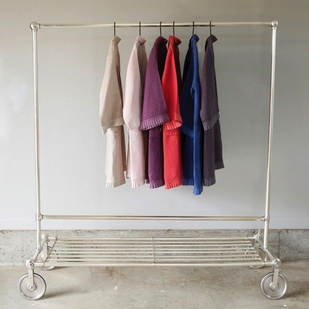 Brass Clothes Rack On Casters