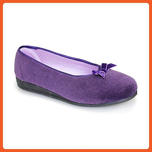 Lunar KLA038 Adelaide Slipper In Purple, Pink And Navy 5,6,7,8,9,10 10 Purple - Slippers for women (*Amazon Partner-Link)