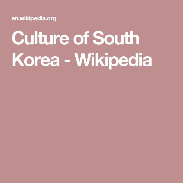 Culture of South Korea - Wikipedia