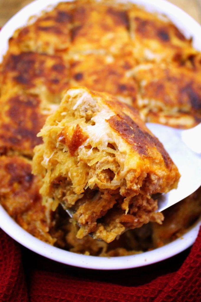 Cheesy Spaghetti Squash Bake   Recipe   Spaghetti squash ...