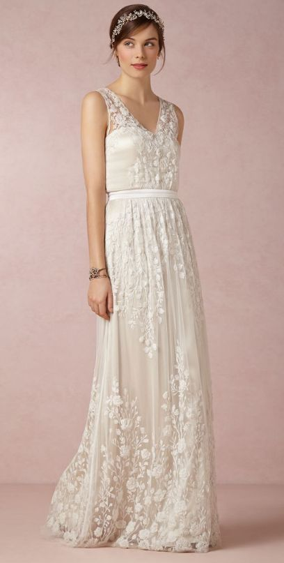 Gorgeous wedding gown | BHLDN http://www.theperfectpaletteshop.com/